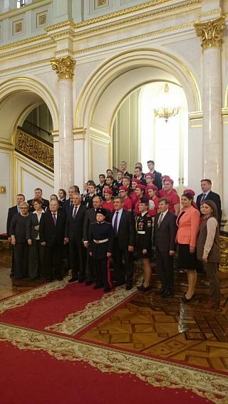 Юнармейцы Зеленограда побывали в Большом Кремлевском дворце