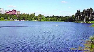 рыбалка на школьном озере в зеленограде